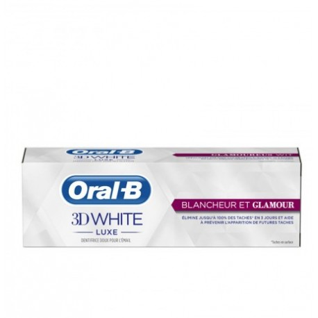 ORAL B DENTIFRICE 3D WHITE LUXE BLANCHEUR ET GLAMOUR 75ML
