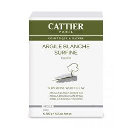 CATTIER ARGILE BLANCHE SURFINE kaolin 200gr