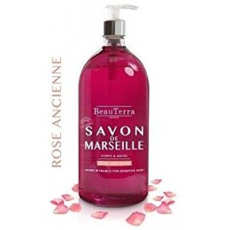SAVON DE MARSEILLE ROSE ANCIENNE 1L