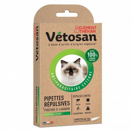 VETOSAN PIPETTES REPULSIVES CHAT