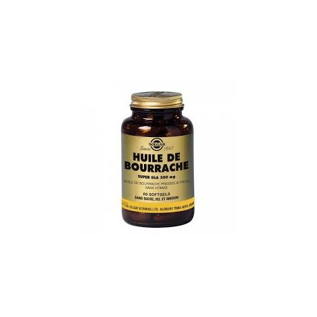 SOLGAR HUILE DE BOURRACHE super GLA 300mg bte 30