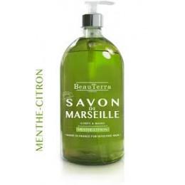 SAVON DE MARSEILLE MENTHE CITRON 500ML
