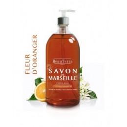 SAVON DE MARSEILLE FLEUR D'ORANGER 1L