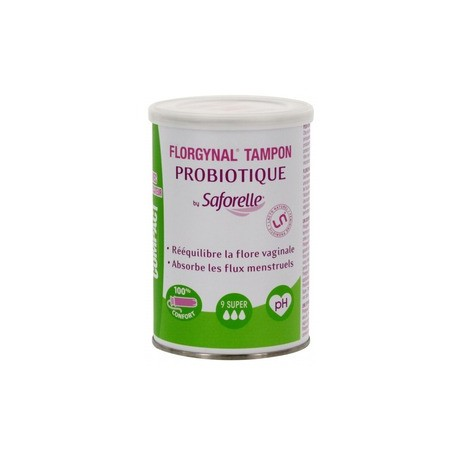 FLORGYNAL TAMPON PROBIOTIQUE FLUX SUPER
